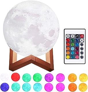 Lámpara Luna 3D Printing 3D.Mr.Señor [Versión Última ]20CM16 Colores USB Cambio de 3D Lámpara de Control de Luz de Luna c...