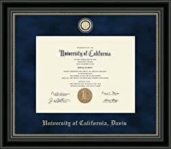 Church Hill Classics UC Davis Regal Edition Diploma Frame - Features Custom-Minted Medallion of School Seal - Officially Licensed - 8.5