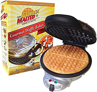 Carbon's Golden Malted Gourmet Waffle Baker