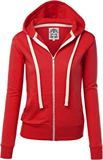 Women's Active Casual Zip-up Hoodie Jacket Long Sleeve Comfortable Lightweight Sweatshirt