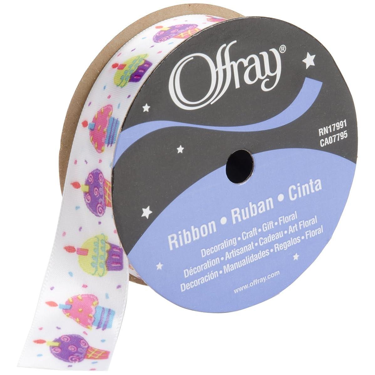 Offray 685523 Fun Cupcakes Craft Ribbon, 7/8