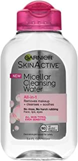 Garnier SkinActive Micellar Cleansing Water, For All Skin Types, 3.4 Ounce