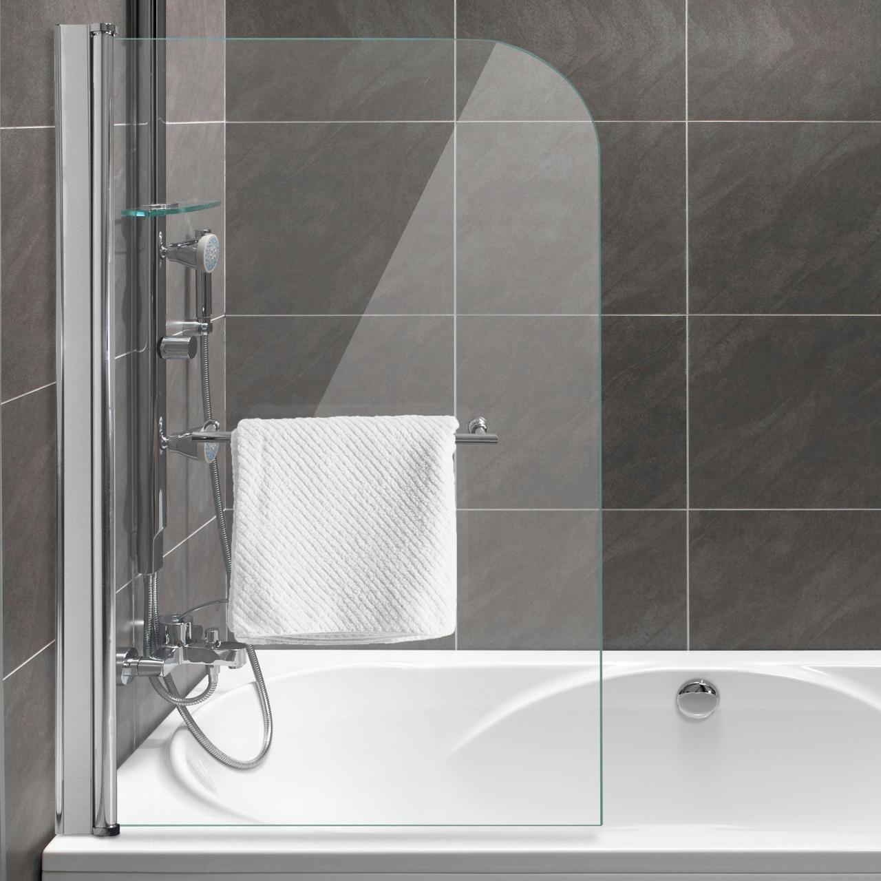 Home Lux – Mampara para bañera plegable pared faltdusch pared (B X H) 80 x 130 cm, cristal de seguridad 6 mm con efecto lotus: Amazon.es: Hogar