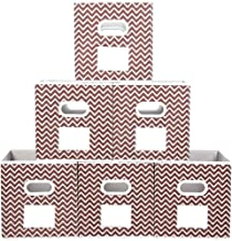 MAX Houser Storage Bins Cubes Baskets Containers with Dual Handles for Home Closet Bedroom Drawers Organizers, Foldable,Br...