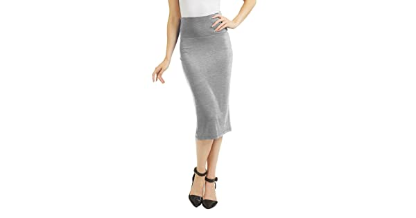 Made in USA Come Together California CTC Womens Knit Pencil Skirt