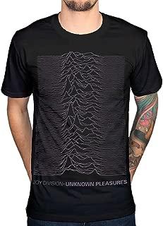 AWDIP Men's Official Joy Division Unknown Pleasures T-Shirt Post Punk Band Album Rock