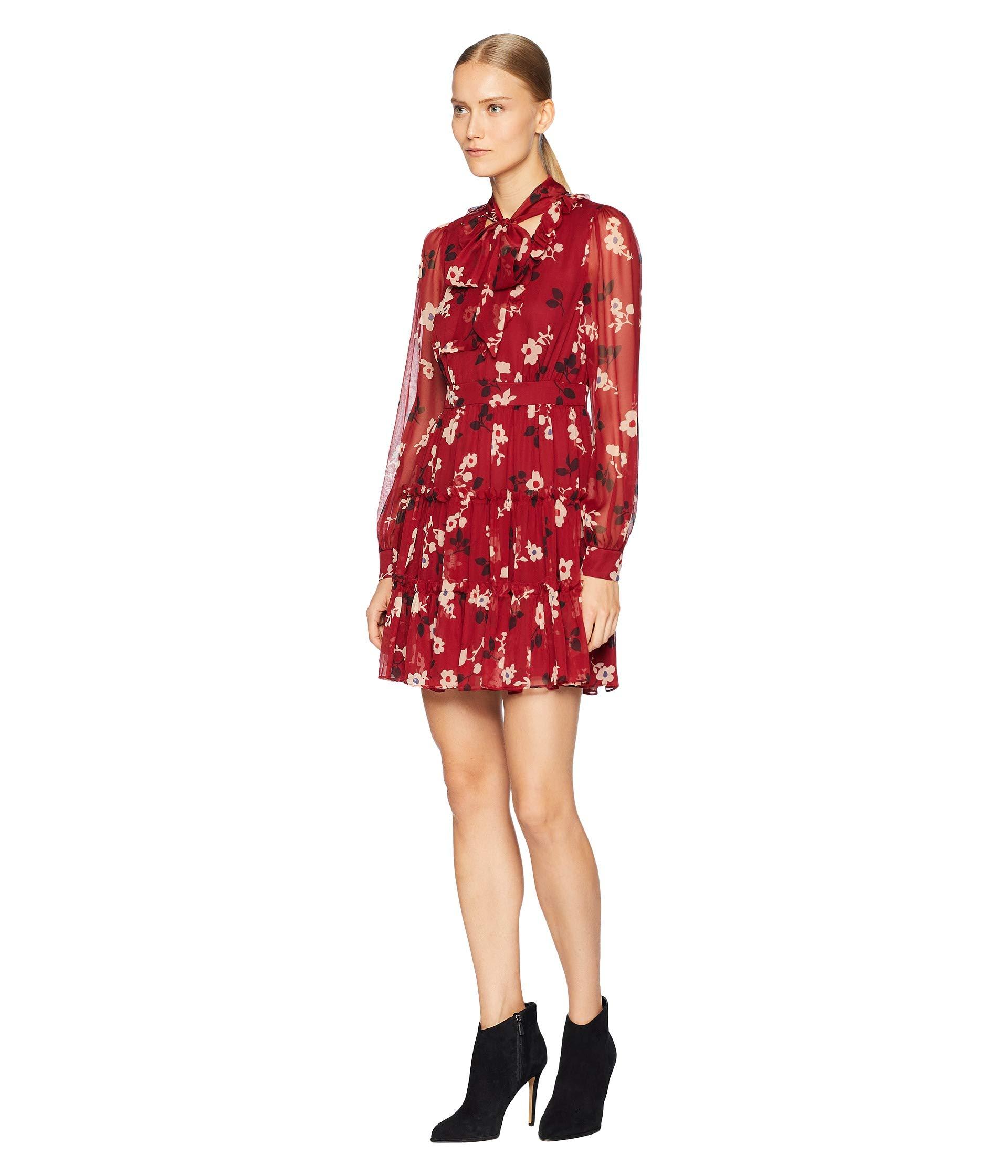 Chiffon York New Deep Dress Camelia Kate Spade Foxy So Mini Russet 8WYz7EzR