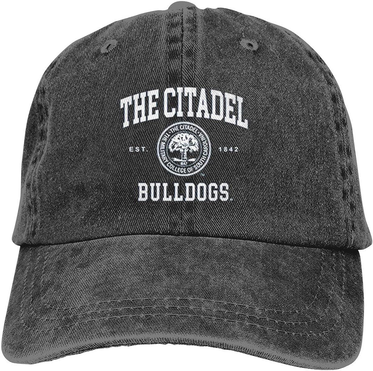 FELA The Citadel Bulldogs Seal Adjustable Unisex Hat Baseball Caps Black
