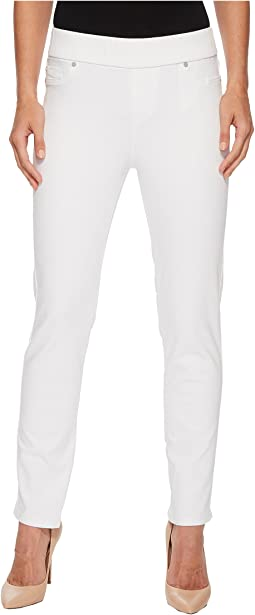 Liverpool - Meredith Ankle Pull-On Slim in Slub Stretch Twill in Bright White