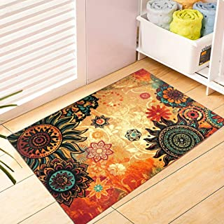 EUCH Contemporary Boho Retro Style Abstract Living Room Floor Carpets,Non-Skid Indoor/Outdoor Large Area Rugs,20