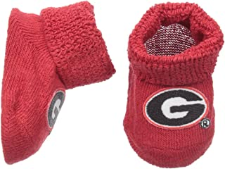 Two Feet Ahead NCAA Georgia Bulldogs Infant Gift Box Booties, One Size, Red