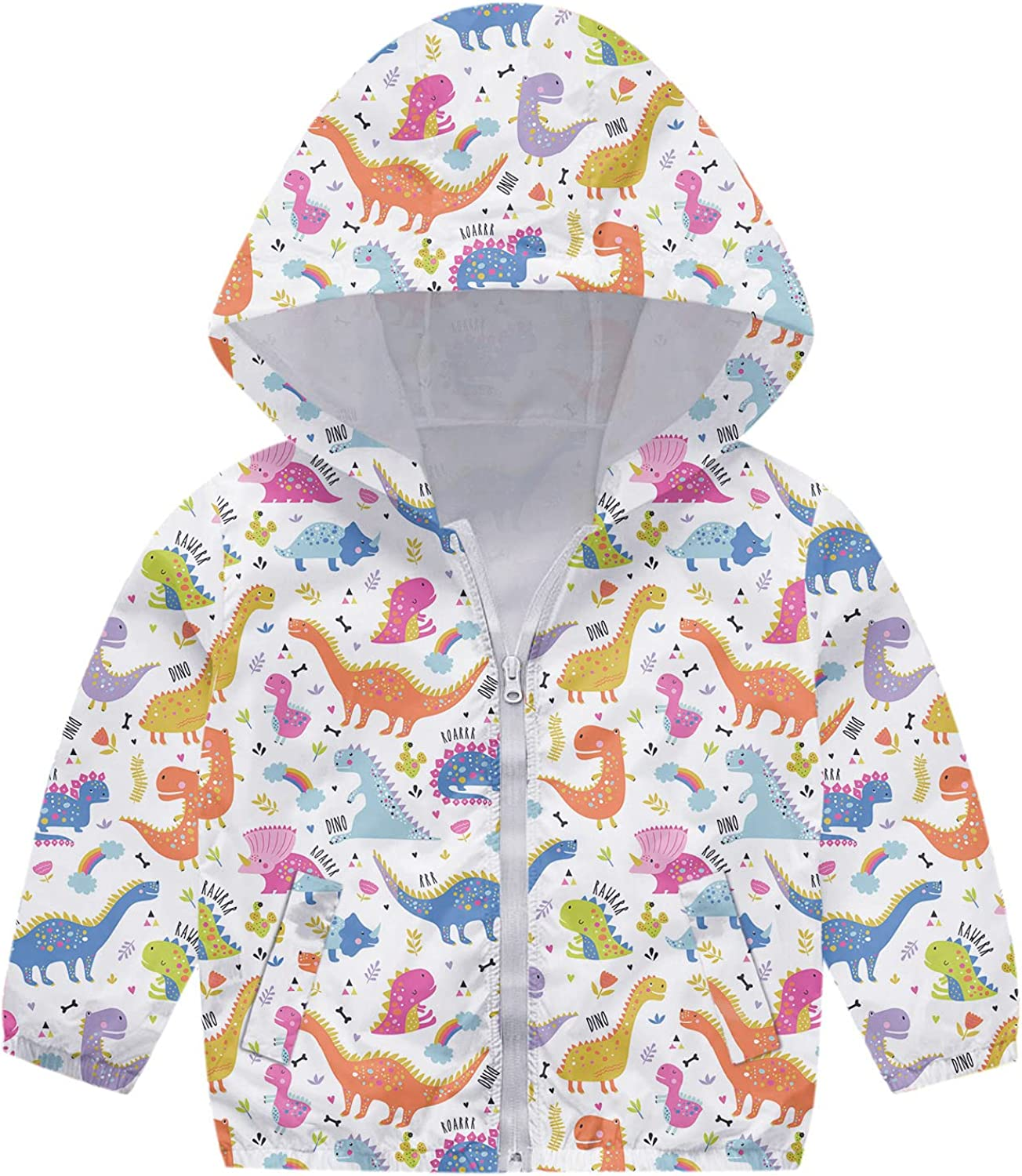 New color Toddler Kids Lowest price challenge Baby Girls Boys Autumn W Zipper Print Jacket Hooded