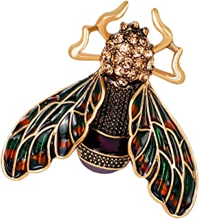 MagiDeal Trendy Women Accessories Insect Alloy Drop Oil Brooch Enamel Animal Brooches