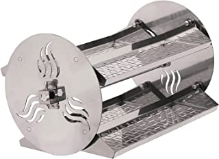 Onlyfire BBQ Grill Rotating Stainless Steel Rotisserie Trays Kit with Hexagon Hole- Fits for Any Grill
