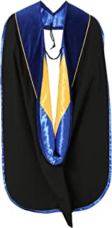 Graduation Deluxe Doctoral Hood With Gold Piping