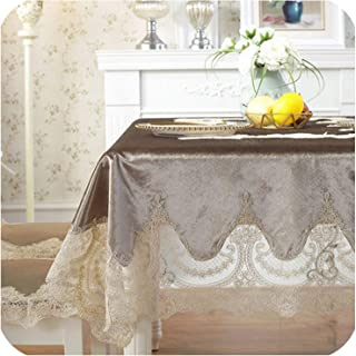 Tablecloth Table Dining Table Cover Table Cloth Simple Retro Home Fabric Chair Cover Upholstery,Brown,90X150Cm