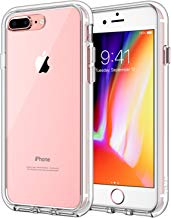 JETech Case for Apple iPhone 8 Plus and iPhone 7 Plus 5.5-Inch, Shock-Absorption Bumper Cover, Anti-Scratch Clear Back (HD Clear)