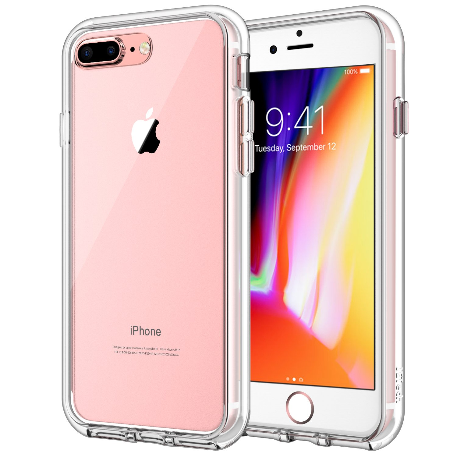 cases iphone 8 plus amazon co ukjetech 3431a case for apple iphone 8 plus and iphone 7 plus, shock