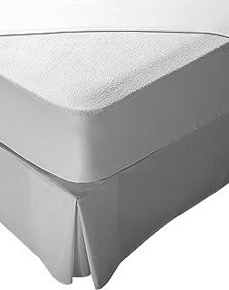 Pikolin Home - Protector de colchón rizo, 100% algodón, impermeable y transpirable, 160 x 190/200 cm, cama 160
