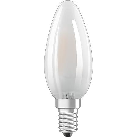 Osram Ampoule LED à Filament Dépolie | Culot E14 | Forme Flamme | Dimmable | Blanc Chaud 2700K | 2,5W (équivalent 25W)