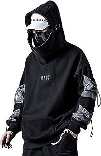 XYXIONGMAO Streetwear Techwear Hoodie Cyberpunk Tactical Mens Black Urban Hip Hop Japanese Sweatshirt