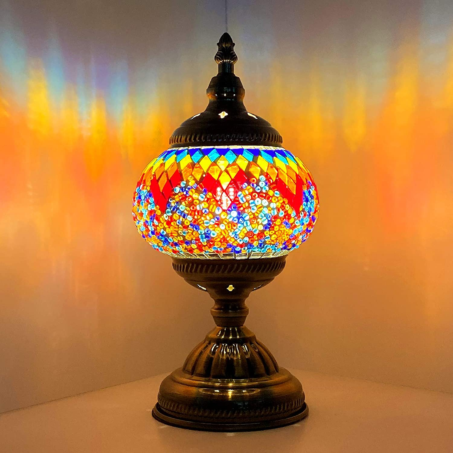 Marrakech Turkish Table Lamp Classic Tiffany Vintage Safety and trust Mosai Over item handling ☆ Style