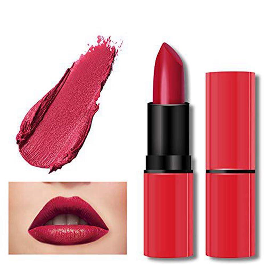 広範囲に君主オフェンス口紅 1ピース 赤 リップクリーム 魅力 高発色 リップスティック グロス とろけるような付け心地美人発色上質ルージュhuajuanE