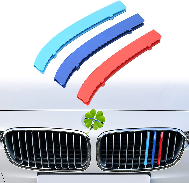 LVJFY Car Front Excellence Grille Trim Strips Daily bargain sale 2013-20 3Pcs for Series BMW 3