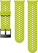 Suunto Watch Strap, 24mm, Silicone, Lime Black- Athletic, S+M: 120-230 mm