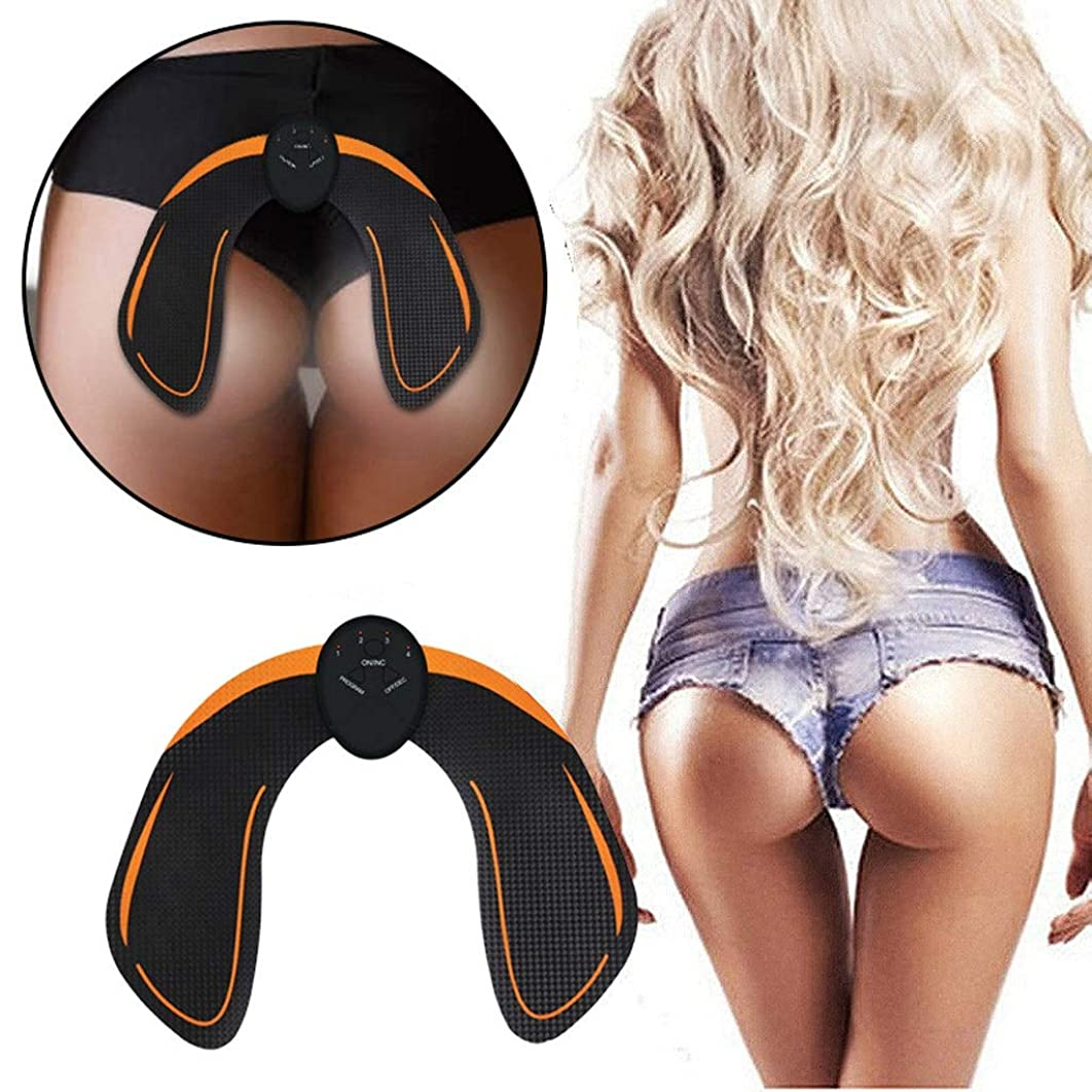 代数的祈りクッション電気ヒップフィットネス機器EMS振動美しいヒップ楽器痩身マシンヒップ整形ヒップマッサージ美容機 (Size : Battery orange)