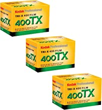 Kodak Tri-X 400TX Professional Black & White Film ISO 400, 35mm, 24 Exposures (3 Pack)