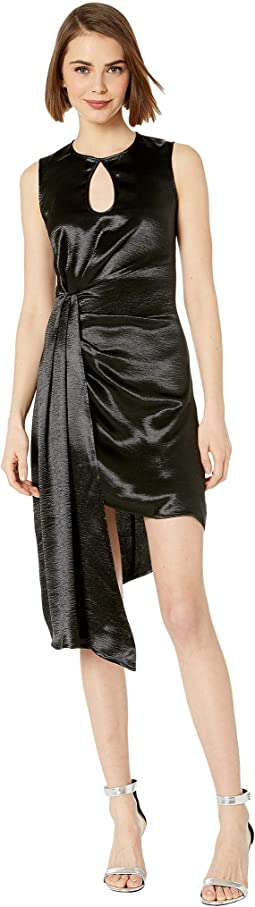 Hammered Satin Asymmetrical Dress