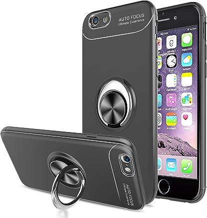 0d5ab062a36 LeYi Funda iPhone 6 / iPhone 6S con Anillo Soporte, 360 Grados Giratorio  Ring Grip con Kickstand Gel TPU de Silicona Bumper Case Carcasa Fundas  iPhone 6 ...