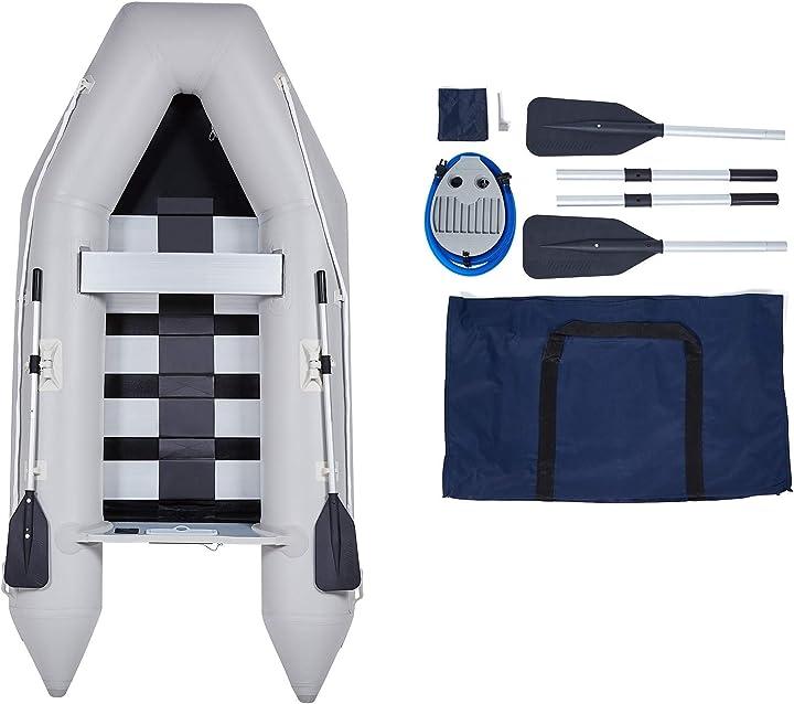 Gommone gonfiabile per adulti 300x150x42cm zattera portatile per 4 persone capacità 450 kg orion motor tech B08DC8K4S1