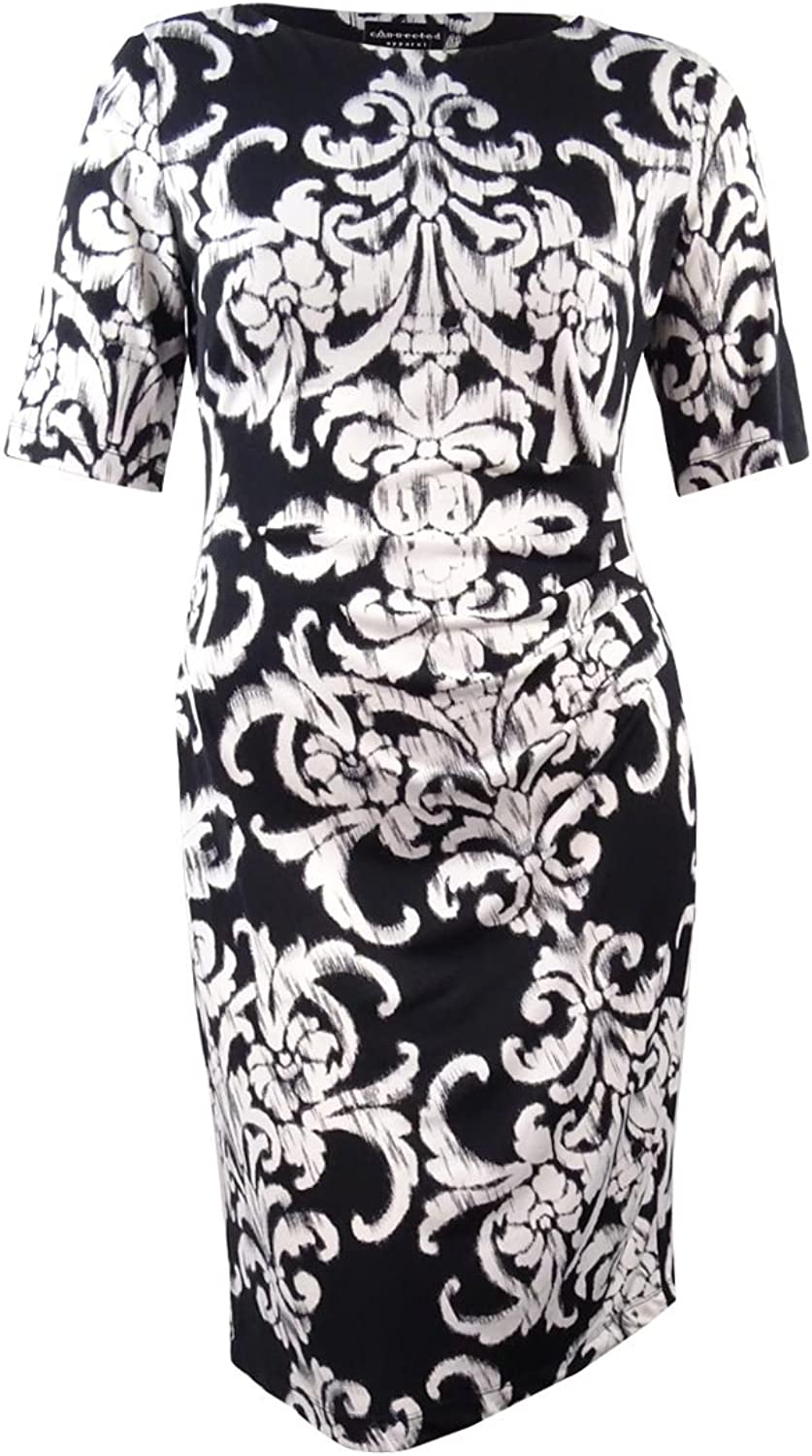 Connected Apparel Women's Printed Sheath Dress