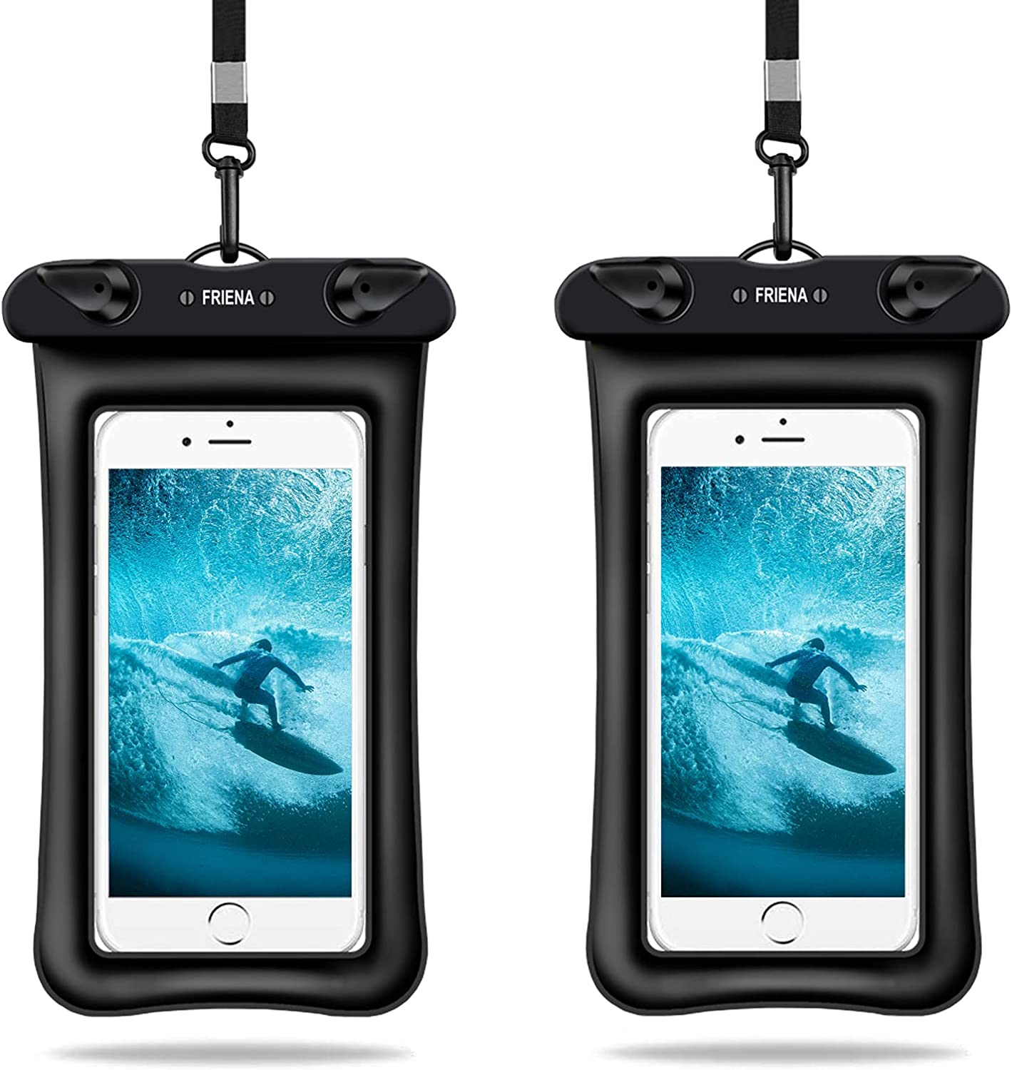 FRIENA Waterproof Phone Pouch Floating IPX8 Universal Waterproof Phone Case Underwater Dry Bags Compatible for iPhone 12/SE/11 Pro/XS Max/XR/X/8P Galaxy S20/S10/S9 Up to 6.9