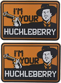 3D PVC I'm Your Huckleberry Funny Tactical Morale Hook & Loop Patch 3.15