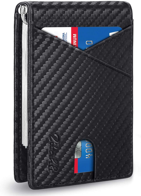 Zitahli Money Clip Wallet-Mens Wallets slim Front Pocket RFID Blocking Card Holder Minimalist Mini Bifold Smart Design