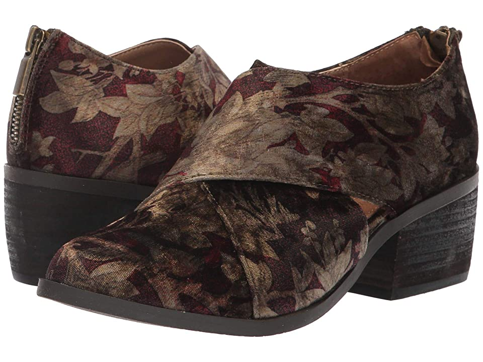 Me Too Taze (Brown Floral Velvet) Women