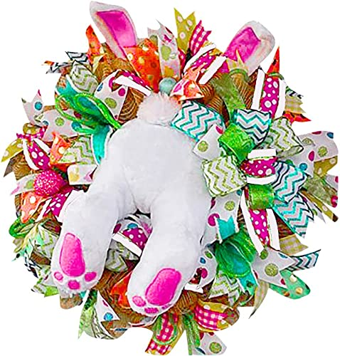 high quality 21In Easter Wreath for Door Easter Rabbit online Wreath Decor Easter Rabbit Front Door Wreath Bunny Butt high quality with Ears Easter Wreath Garland Wall Decor Easter Decoration Craft online