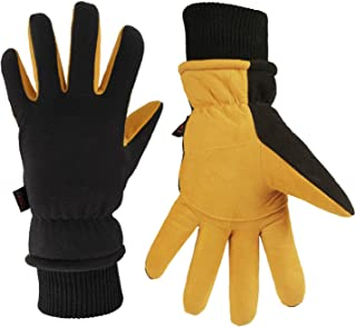 OZERO Winter Gloves -30 ℉ Cold Proof Thermal Ski Glove – Deerskin Suede Leather..