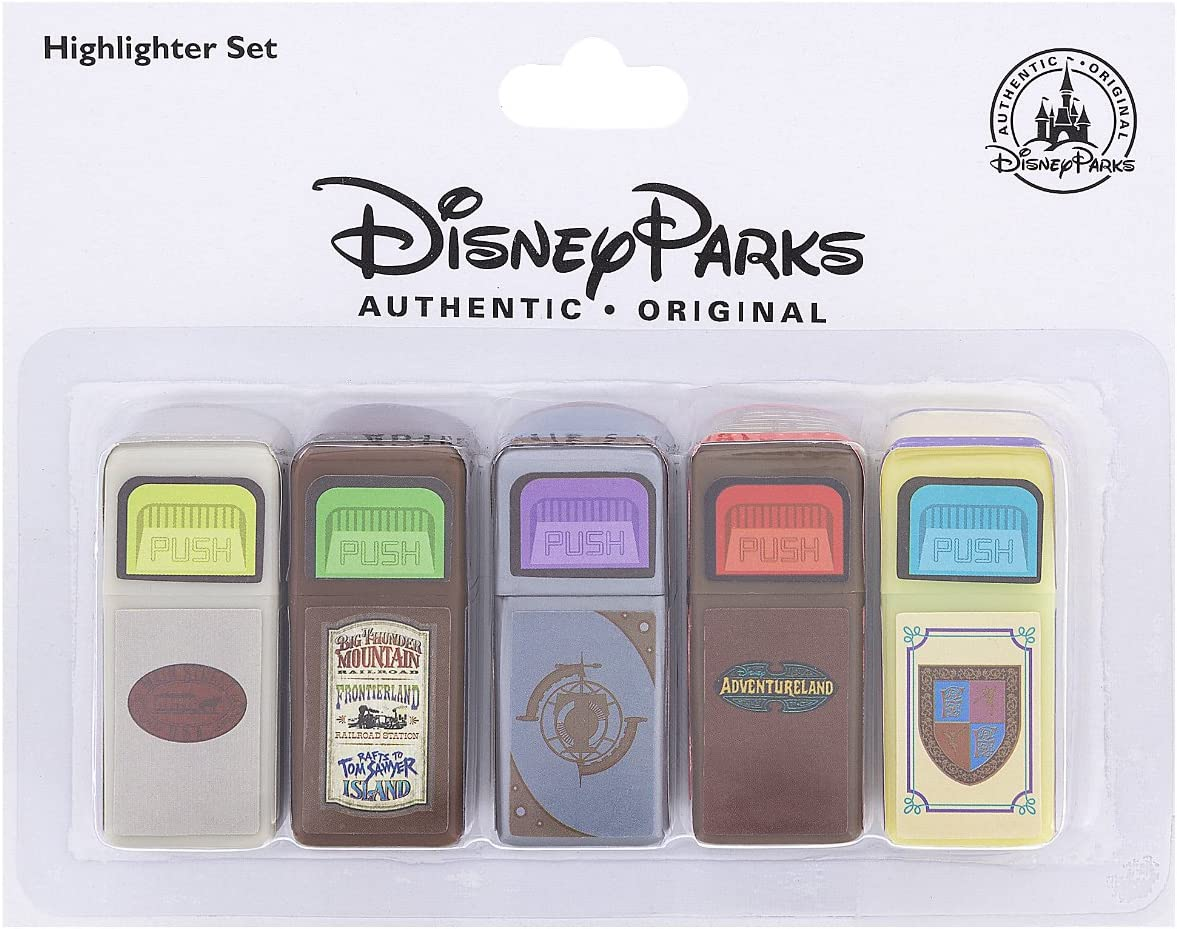 Disney Sale Special Price Parks Exclusive Trash Can Set of 5 Fixed price for sale Highlighter Marker