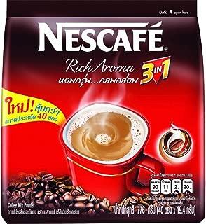 Nescafe 3 in 1 Rich Aroma Instant Coffee 40 Sticks (776g)