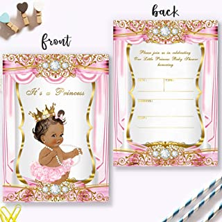 Mocsicka Royal Princess Invitations Party Invite, 20 Fill in Invitations and Envelopes