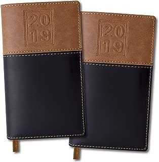 2019 Pocket Planner/Pocket Calendar: Includes 14 Months (November 2018 to December 2019) / 2019 Weekly Planner/Weekly Agenda/Monthly Calendar Organizer (Black/Brown - Pack of 2)