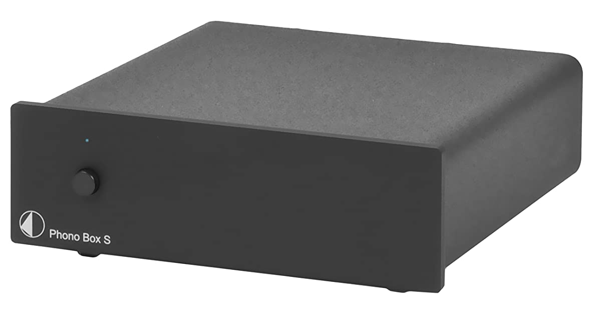 Pro-Ject Audiophile Audio Component Phonograph Preamplifier, Black (Phono Box S Black)