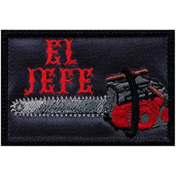 Amazon Com Evil Dead El Jefe Chainsaw Ash Inspired Art Morale Hook Side Patch Clothing