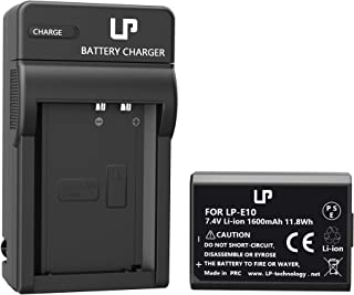LP LP-E10 Battery Charger Set, Compatible with Canon EOS Rebel T3, T5, T6, T7, T100, 1300D, 2000D, 3000D, 4000D & More (Not for T3i T5i T6i T6s T7i)