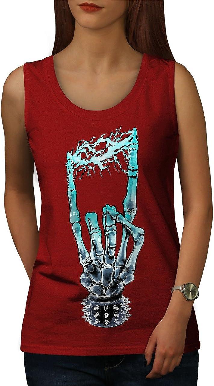 Funny Active Sports Shirt Wellcoda Pineapple Skull Face Mens Tank Top