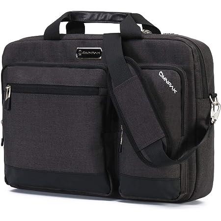 Omnpak ビジネスバッグ 大容量 pcバッグ 15.6インチ 2WAY(ショルダー+手提げ) 鍵付きバック A4 面接 通勤 就活 カバン (グレー)